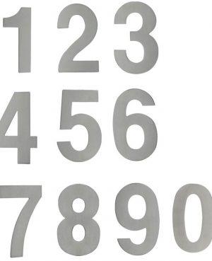 """NÚMEROS DECORATIVOS 15CMS. (""""0"""" AL """"9"""") ACERO INOXIDABLE"""