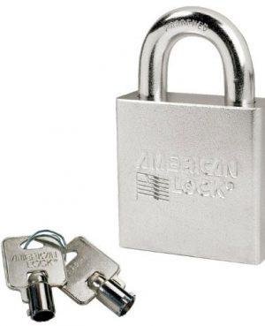 CANDADO AMERICAN LOCK A7300 CROMO GANCHO CORTO 28mm CUERPO 57mm