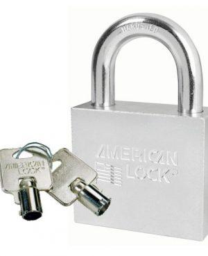 CANDADO AMERICAN LOCK A7301 CROMO GANCHO LARGO 50mm CUERPO 57mm